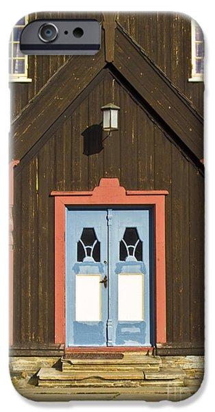 Norwegian wooden facade iPhone Case by Heiko Koehrer-Wagner