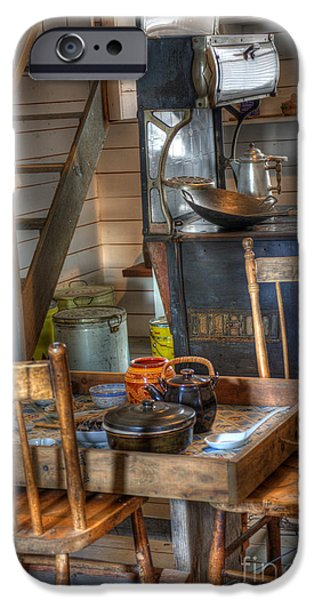 Historical Pictures iPhone Cases - Nostalgia Country Kitchen iPhone Case by Bob Christopher