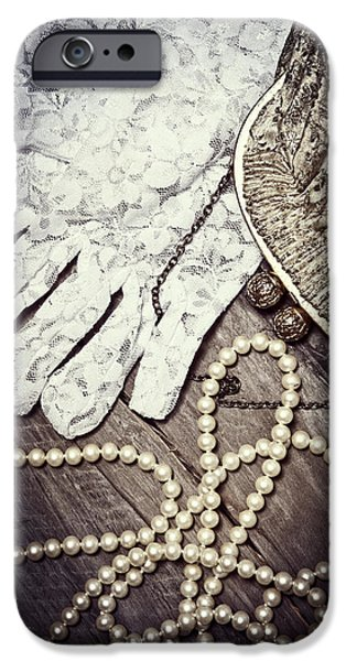 Pearls iPhone Cases - Nostalgia iPhone Case by Joana Kruse