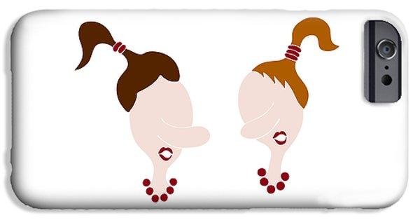 Posh iPhone Cases - Nosy girls iPhone Case by Frank Tschakert