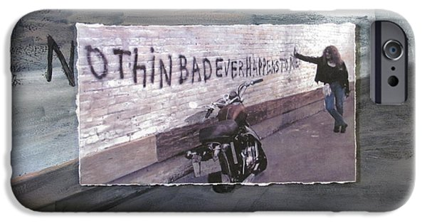 Alley Mixed Media iPhone Cases - Nothin Bad Ever Happens To Me iPhone Case by Anita Burgermeister