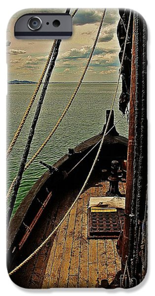 Pirate Ship iPhone Cases - Notorious the Pirate Ship 6 iPhone Case by Blair Stuart