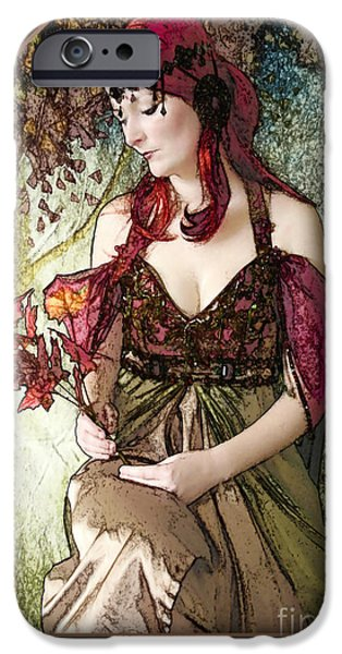 Painter Digital Art iPhone Cases - Nouveau iPhone Case by John Edwards