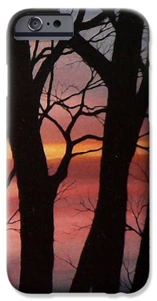 Tree Art Print iPhone Cases - November Lace 4 iPhone Case by Hanne Lore Koehler