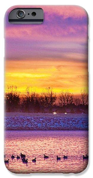 November Lagerman Reservoir Sunrise  iPhone Case by James BO  Insogna