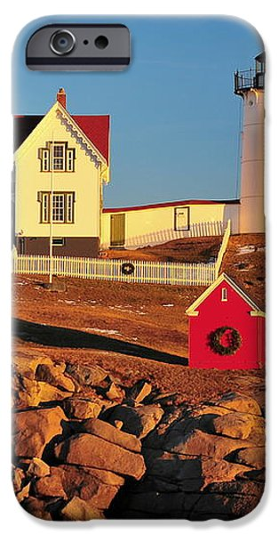 Nubble Light Sunset iPhone Case by Catherine Reusch  Daley