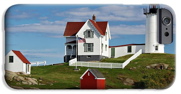 Recently Sold -  - Nubble Lighthouse iPhone Cases - Nubble Lighthouse - D002365 iPhone Case by Daniel Dempster