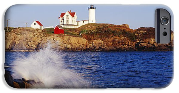 Cape Neddick Lighthouse iPhone Cases - Nubble Lighthouse in Daylight iPhone Case by Jeremy Woodhouse