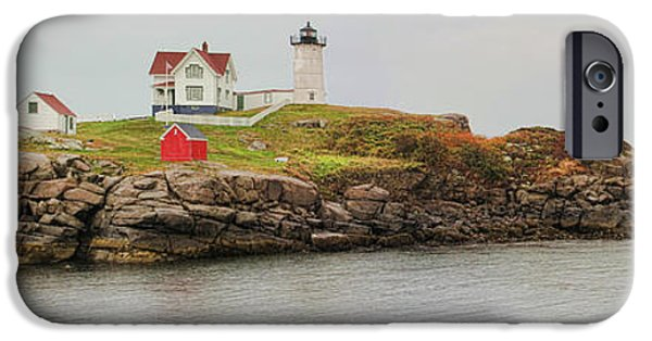 Cape Neddick Lighthouse iPhone Cases - Nubble Lighthouse iPhone Case by Jack Schultz