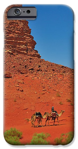 Jordan iPhone Cases - Nubian Camel Rider iPhone Case by Tony Beck