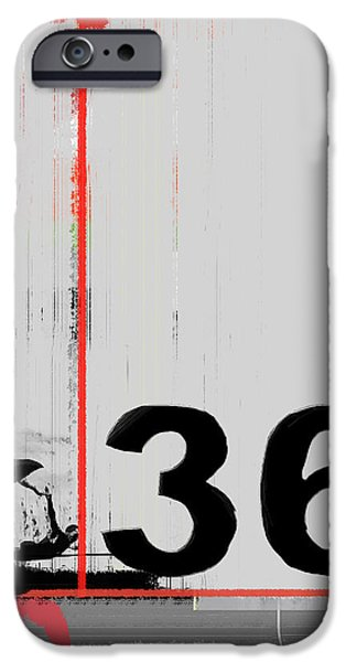 Forms Digital Art iPhone Cases - Number 36 iPhone Case by Naxart Studio
