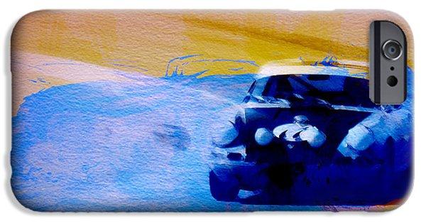 Naxart Digital Art iPhone Cases - Number 49 Porshce iPhone Case by Naxart Studio