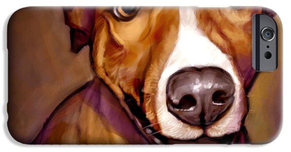 Animals Digital Art iPhone Cases - Number One Fan iPhone Case by Sean ODaniels