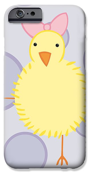 Baby Bird iPhone Cases - Nursery Art Baby Bird iPhone Case by Christy Beckwith