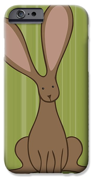 Nursery Art Bunny iPhone Case by Christy Beckwith
