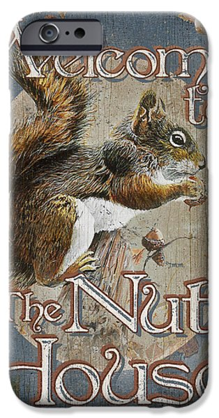 America Paintings iPhone Cases - Nut House iPhone Case by JQ Licensing