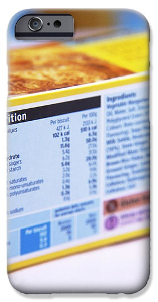 Nutrition Label iPhone Case by Veronique Leplat