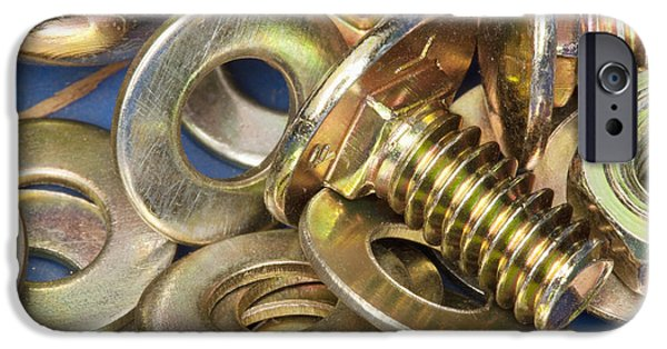 Best Sellers -  - Diy iPhone Cases - Nuts Bolts and Washers iPhone Case by Shannon Fagan