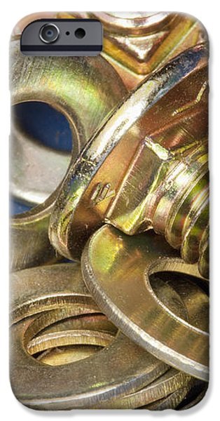 Nuts Bolts and Washers iPhone Case by Shannon Fagan