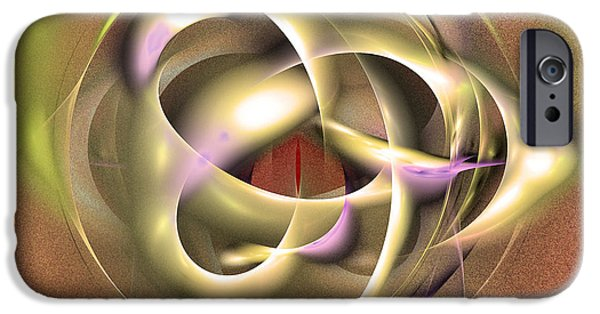 Colorful Abstract Algorithmic Contemporary iPhone Cases - Nuts to crack - Fractal art iPhone Case by Sipo Liimatainen