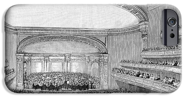 Symphony Hall iPhone Cases - Nyc: Carnegie Hall, 1891 iPhone Case by Granger
