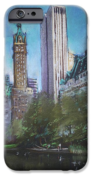 People iPhone Cases - NYC Central Park 2 iPhone Case by Ylli Haruni