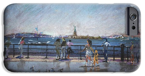 People iPhone Cases - NYC Grand Ferry Park 2 iPhone Case by Ylli Haruni