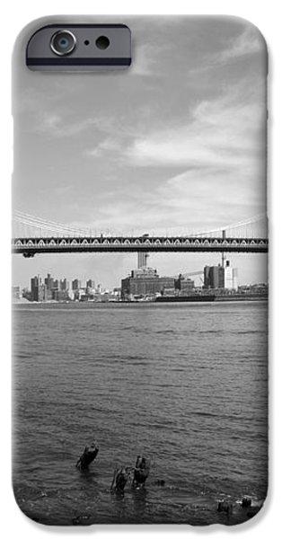 NYC Manhattan Bridge iPhone Case by Mike McGlothlen