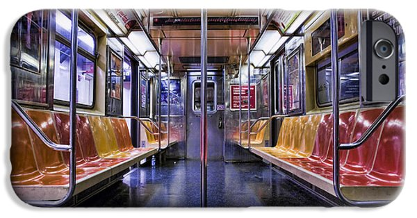 Subways iPhone Cases - NYC Subway iPhone Case by Kelley King