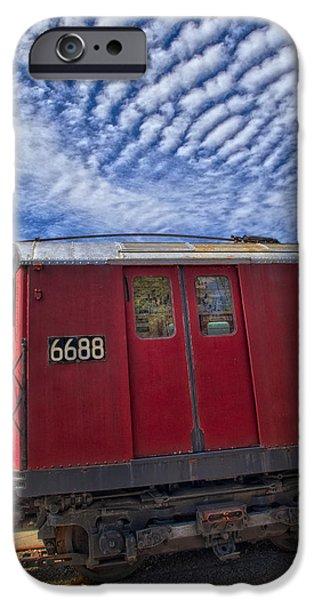 NYC Subway No 7 iPhone Case by Susan Candelario