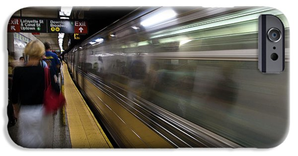 Nyc iPhone Cases - NYC Subway iPhone Case by Sebastian Musial