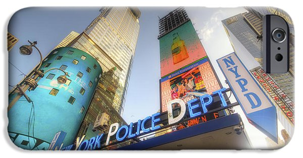 Police Art Photographs iPhone Cases - NYPD Station iPhone Case by Yhun Suarez