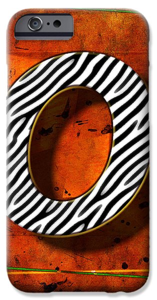 Computer Art Pyrography iPhone Cases - O iPhone Case by Mauro Celotti