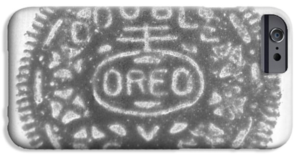 Oreos iPhone Cases - O R E O in BLACK NEGATIVE iPhone Case by Rob Hans