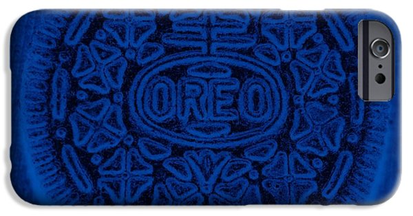 Oreo iPhone Cases - O R E O In Blue iPhone Case by Rob Hans