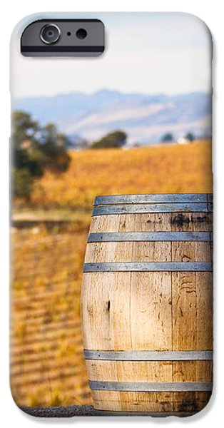 Oak Barrel at Vineyard iPhone Case by David Buffington