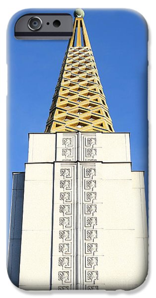 Oakland California Temple . The Church of Jesus Christ of Latter-Day Saints . 7D11339 iPhone Case by Wingsdomain Art and Photography