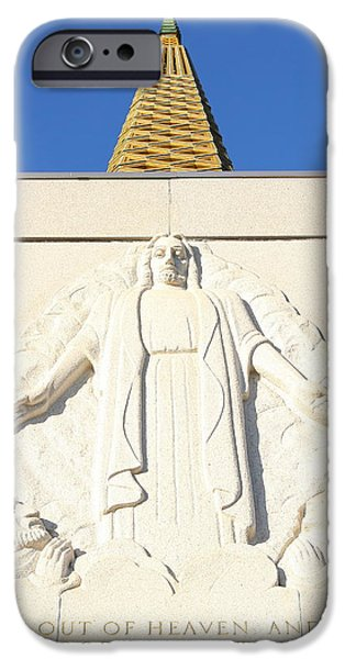 Oakland California Temple . The Church of Jesus Christ of Latter-Day Saints . 7D11350 iPhone Case by Wingsdomain Art and Photography