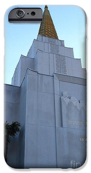 Oakland California Temple . The Church of Jesus Christ of Latter-Day Saints . 7D11364 iPhone Case by Wingsdomain Art and Photography