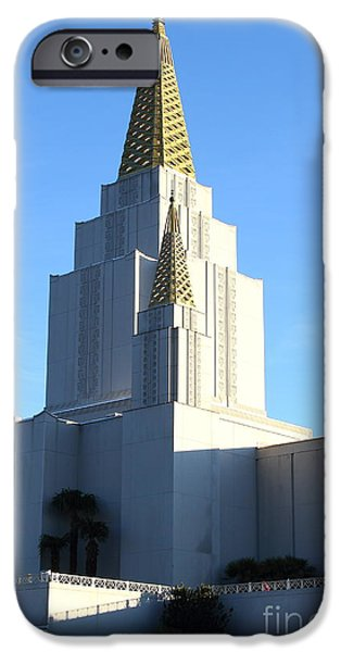 Oakland California Temple . The Church of Jesus Christ of Latter-Day Saints . 7D11377 iPhone Case by Wingsdomain Art and Photography