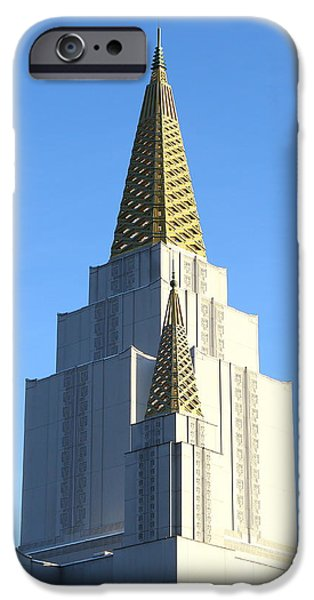 Oakland California Temple . The Church of Jesus Christ of Latter-Day Saints . 7D11381 iPhone Case by Wingsdomain Art and Photography