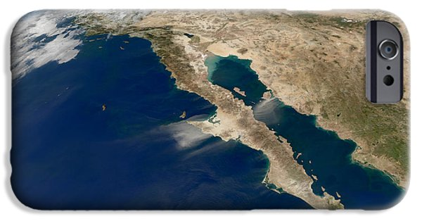 Baja iPhone Cases - Oblique View Of Baja California iPhone Case by Stocktrek Images
