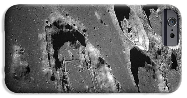 Moonscape iPhone Cases - Oblique View Of The Lunar Surface iPhone Case by Stocktrek Images