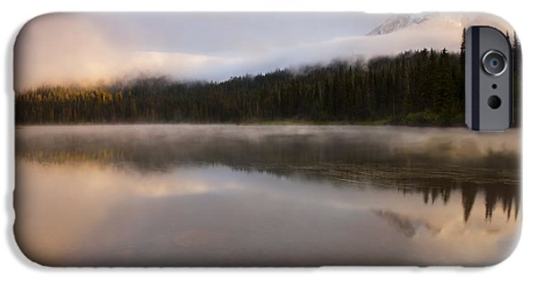 Fog Mist iPhone Cases - Obscured Dawn iPhone Case by Mike  Dawson