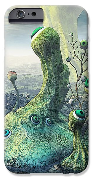Observation iPhone Case by Jutta Maria Pusl