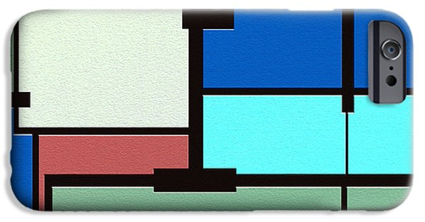Geometrical Art iPhone Cases - Obsession iPhone Case by Ely Arsha