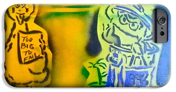 Occupy Paintings iPhone Cases - Occupy Big Bird and Grouch iPhone Case by Tony B Conscious