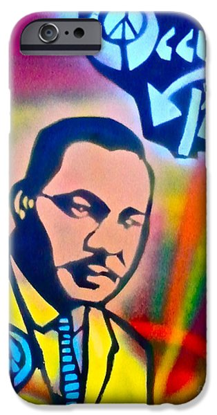 Occupy Paintings iPhone Cases - Occupy DR. KING iPhone Case by Tony B Conscious