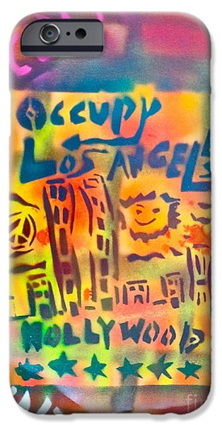 Occupy Paintings iPhone Cases - Occupy Hollywood iPhone Case by Tony B Conscious