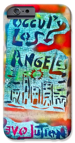 Occupy Paintings iPhone Cases - Occupy Los Angeles iPhone Case by Tony B Conscious